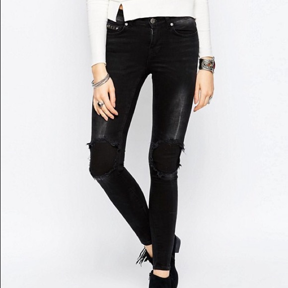 Noisy May Denim - BNWT Noisy May Lucy Super Skinny Fit Studded Jeans